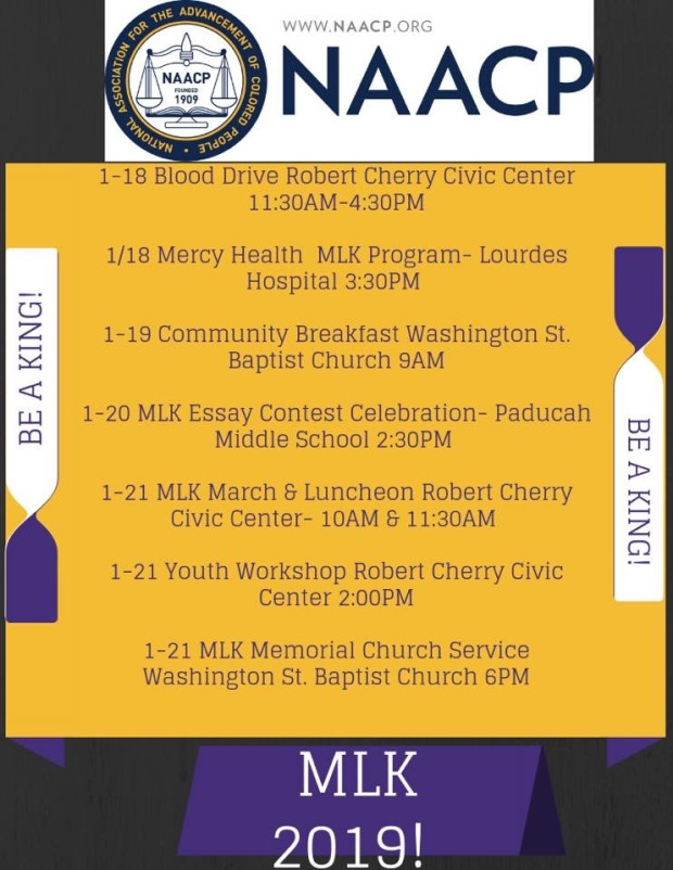 naacp paducah martin luther king jr events 2019